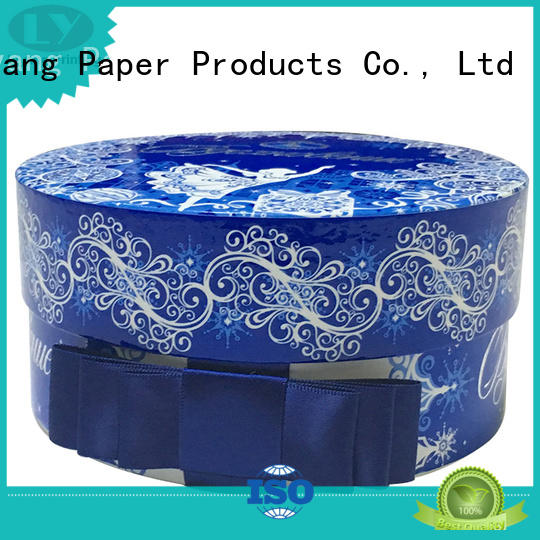 Liyang Paper Packaging free sample round boxes wholesale custom design for christmas