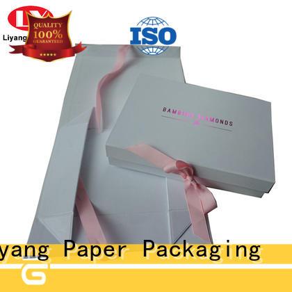 Custom Collapsible Rigid White Cardboard Flat Folding Paper Gift Box