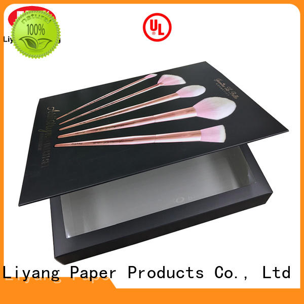 pink luxury cosmetic box for wholesale for brush
