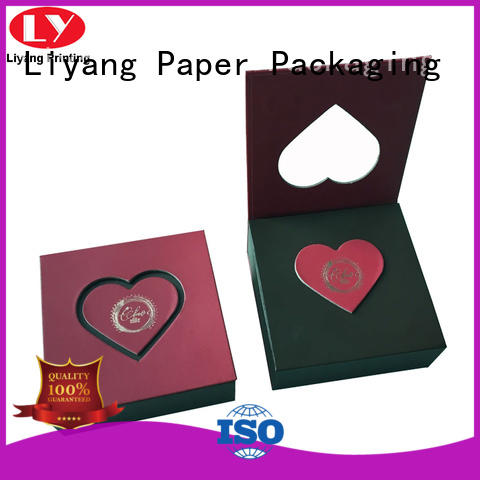 heart-shape custom food boxes free sample for chocolate Liyang Paper Packaging