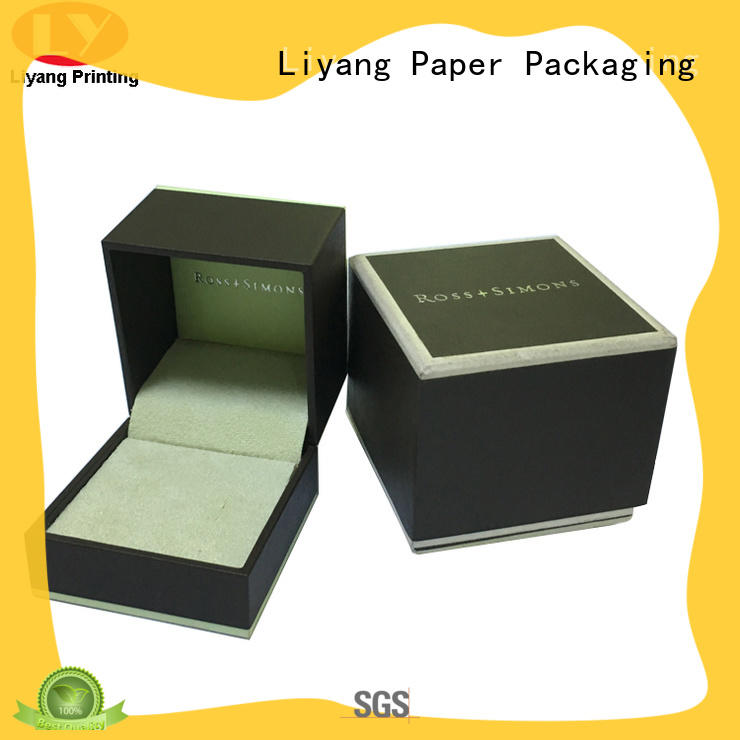 Liyang Paper Packaging black cardboard jewelry boxes lid for gift