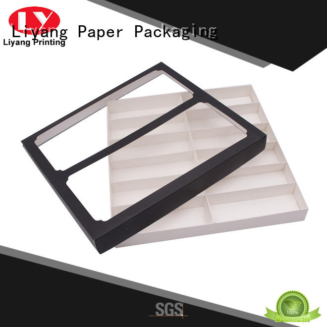 window custom gift boxes with lids for marble Liyang Paper Packaging