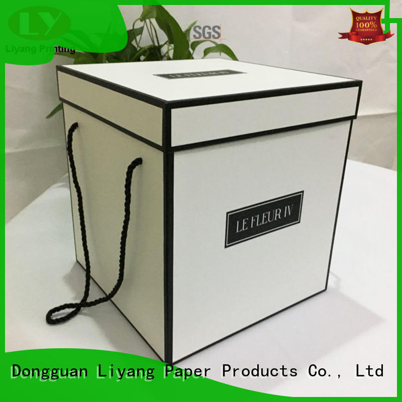 Liyang Paper Packaging paper flower box white flower for cosmetics