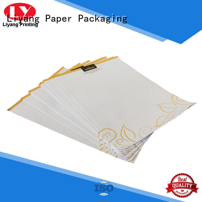 Liyang Paper Packaging logo printed business folder printing paper sticker label