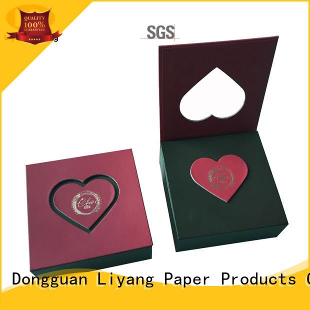 sanitary food packaging box red free sample for display