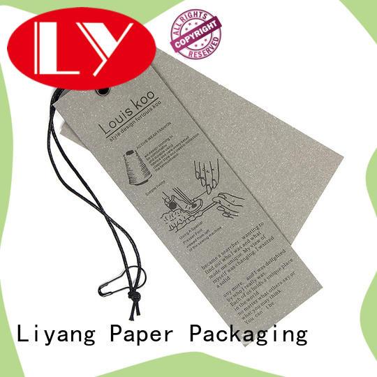 Liyang Paper Packaging kraft material custom tags catalog fast delivery