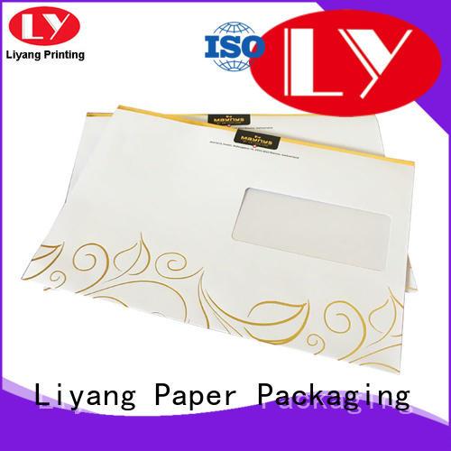 paper folder custom printed envelopes at discount for packing Liyang Paper Packaging
