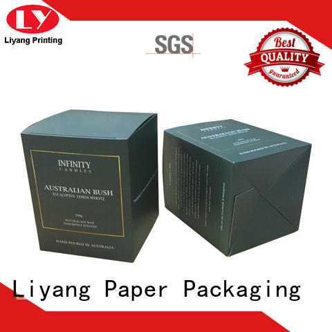 Custom Printing Flat Folding Candle Boxes Packaging