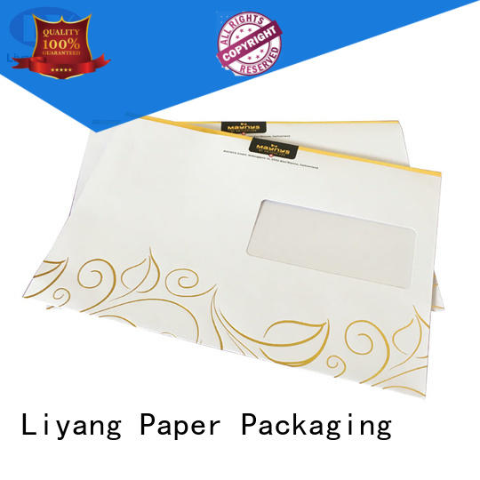 custom catalog printing two pockets sticker label Liyang Paper Packaging
