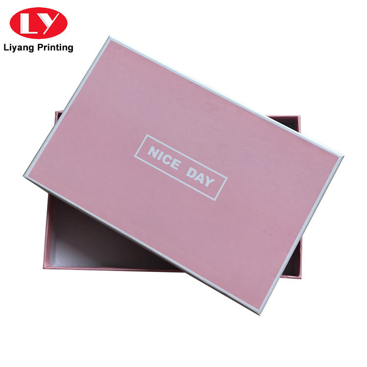 custom logo rectangle luxury rigid paper scarf packaging gift box with lid-1
