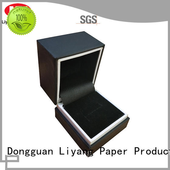 leather cardboard jewelry packaging touch for gift Liyang Paper Packaging