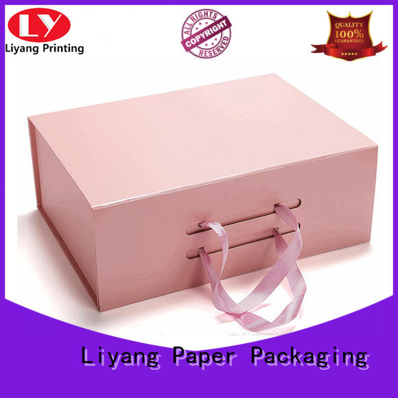 Liyang Paper Packaging lid cool shoe box storage handle wholesale