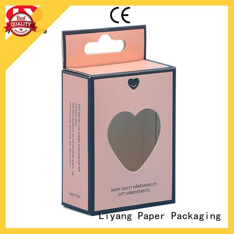 custom cosmetic boxes hanger for makeup Liyang Paper Packaging