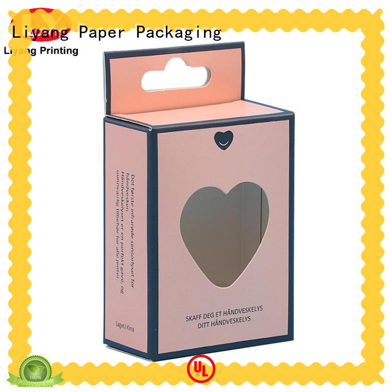 custom cosmetic packaging boxes hanger for packaging Liyang Paper Packaging
