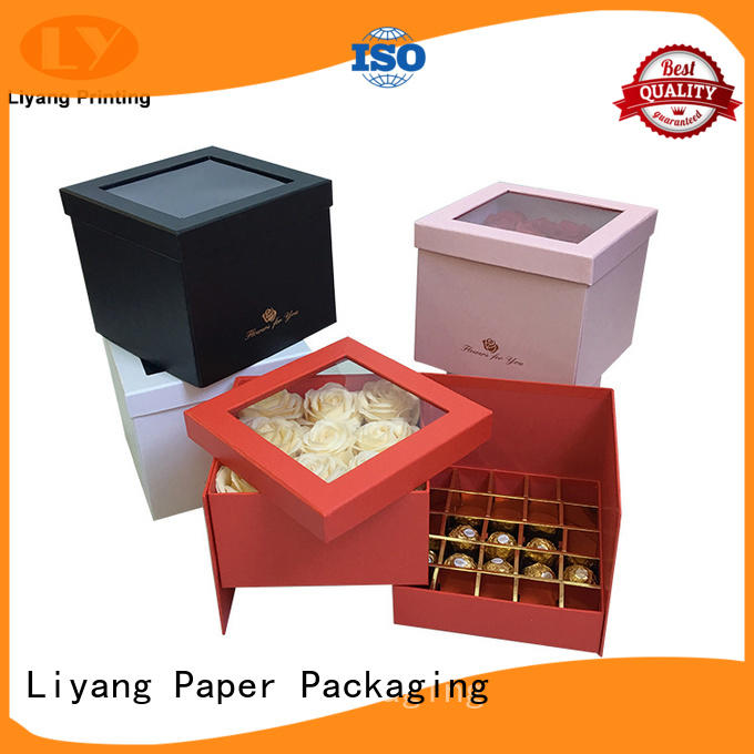 Liyang Paper Packaging hot-sale wholesale food packaging bulk production for chocolate