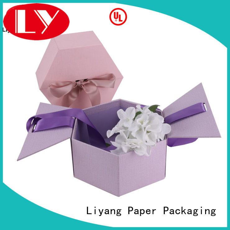 twist square flower box for gift Liyang Paper Packaging