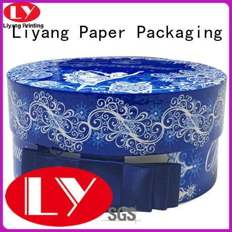ODM round gift box custom design for packaging Liyang Paper Packaging