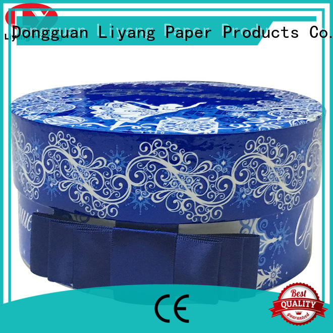 Liyang Paper Packaging high quality round cardboard boxes custom design for christmas