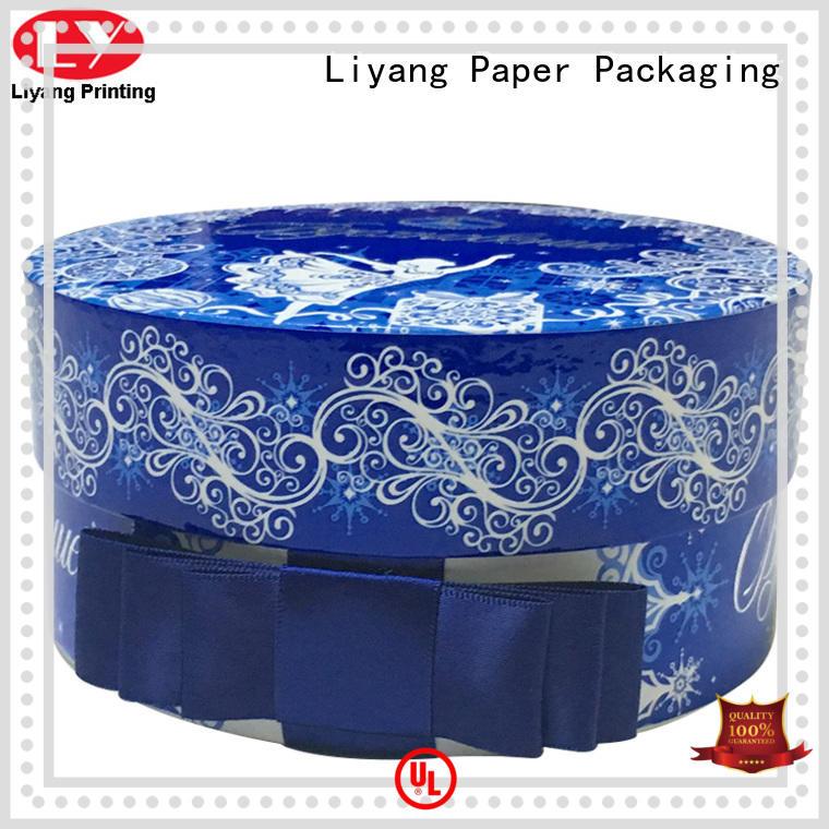 ODM round cardboard boxes custom color for bracelet Liyang Paper Packaging
