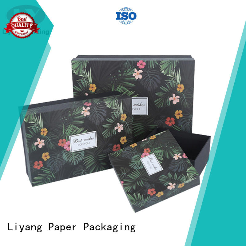 Liyang Paper Packaging luxury gift box supplier black for bakery