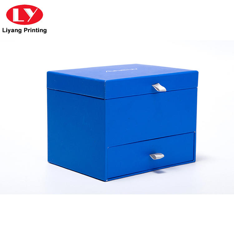 Luxury high quality paper cardboard gift storage box with drawer-1