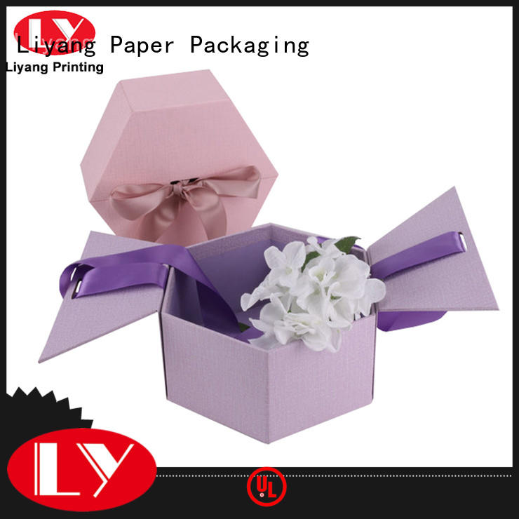 printed paper flower box white flower for gift
