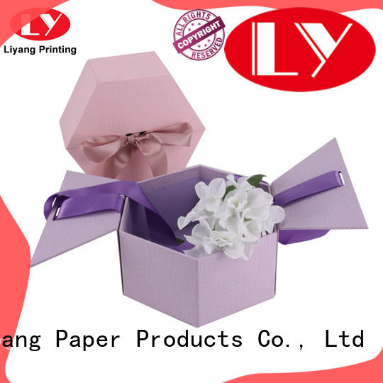 display round flower box graphic artwork for gift Liyang Paper Packaging