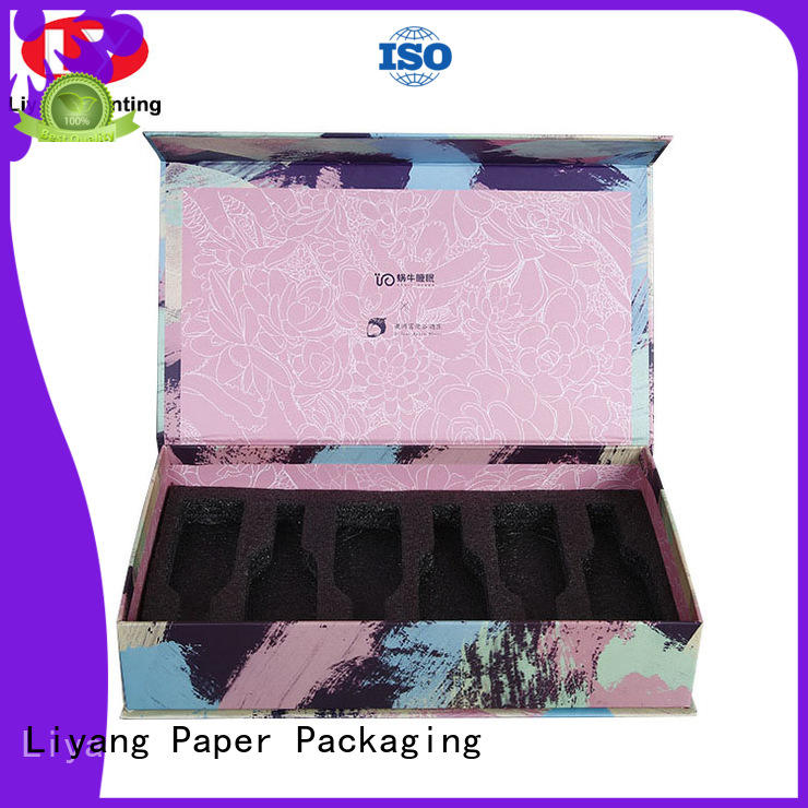 Liyang Paper Packaging square custom cosmetic packaging boxes free sample for packaging
