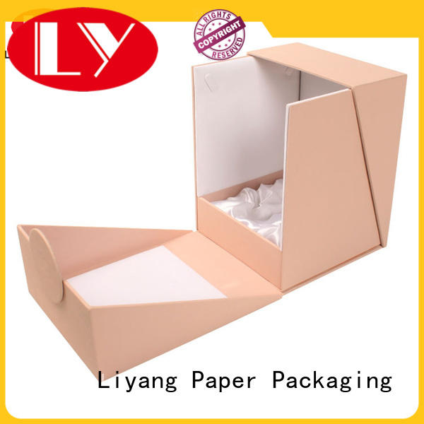 Liyang Paper Packaging handle cosmetic gift box free sample for packaging