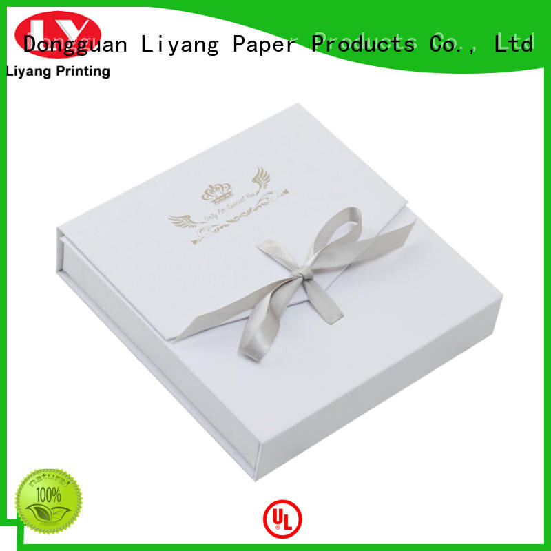 Liyang Paper Packaging personalized custom paper jewelry boxes bulk production for ring