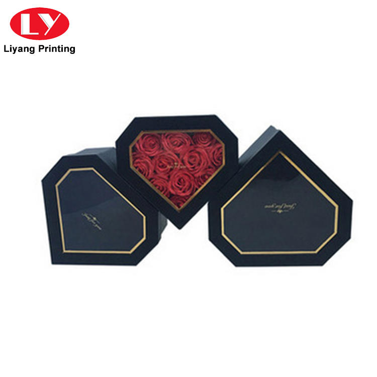 Liyang Paper Packaging printed cardboard flower boxes square shape for gift packing-1