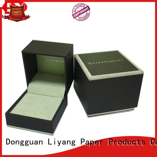 leather custom paper jewelry boxes free sample for ring