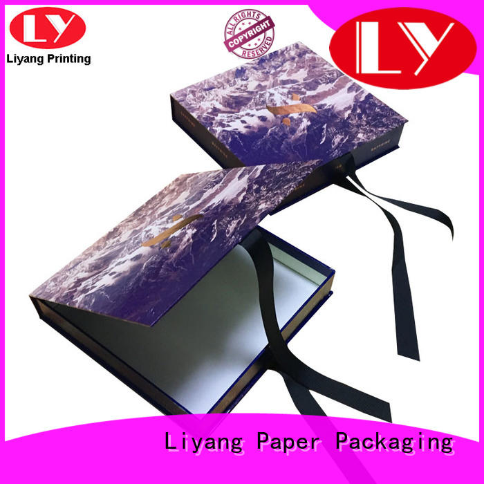 handle clothing paper box baby for gift Liyang Paper Packaging