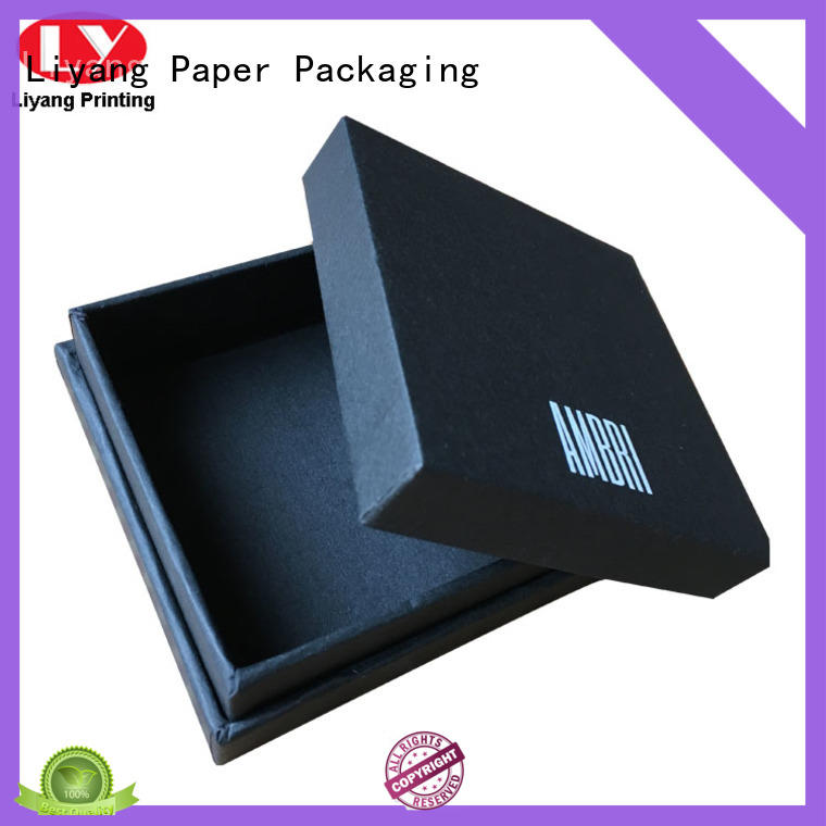 blackcustom paper jewelry boxesleatherODM for gift