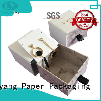 paper jewelry box ribbon for small bracelet Liyang Paper Packaging