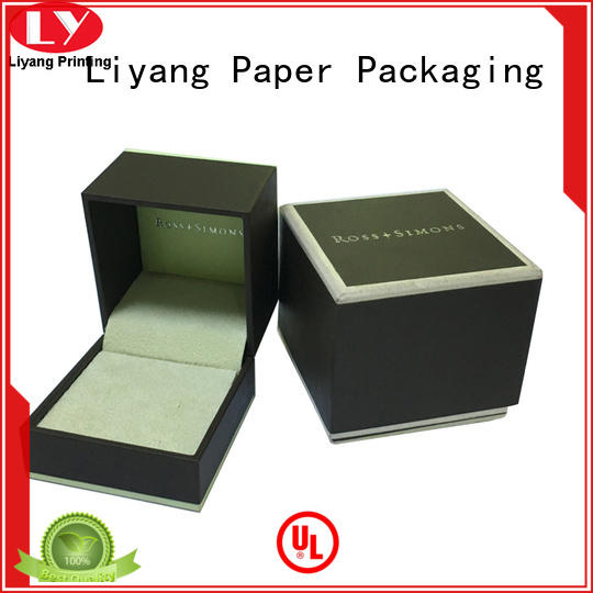 soft paper jewelry box foam for gift Liyang Paper Packaging