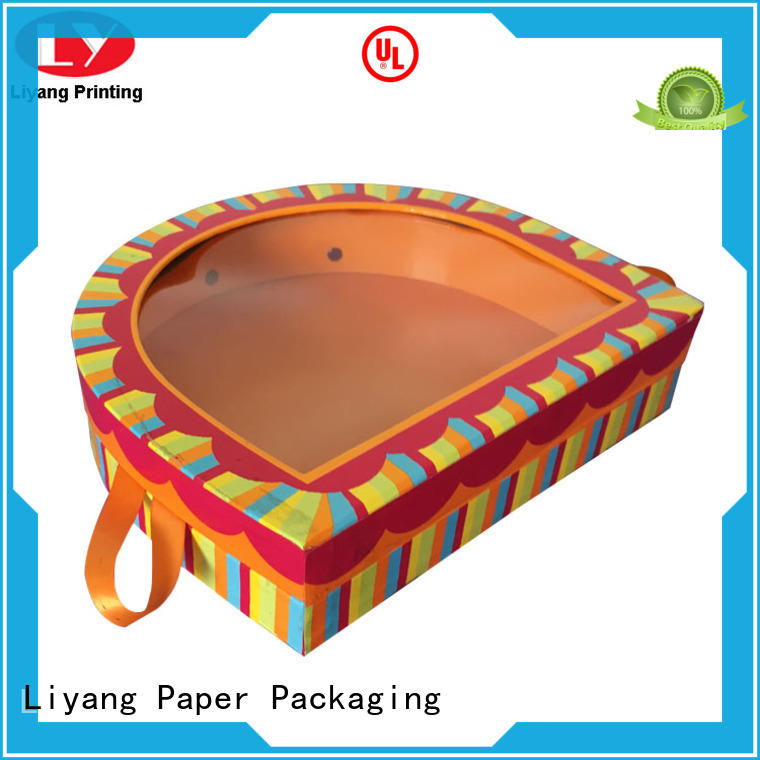 Liyang Paper Packaging window pyramid gift box OEM for packaging