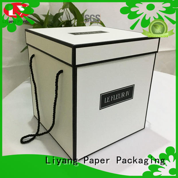 paper flower box packaging for cosmetics Liyang Paper Packaging