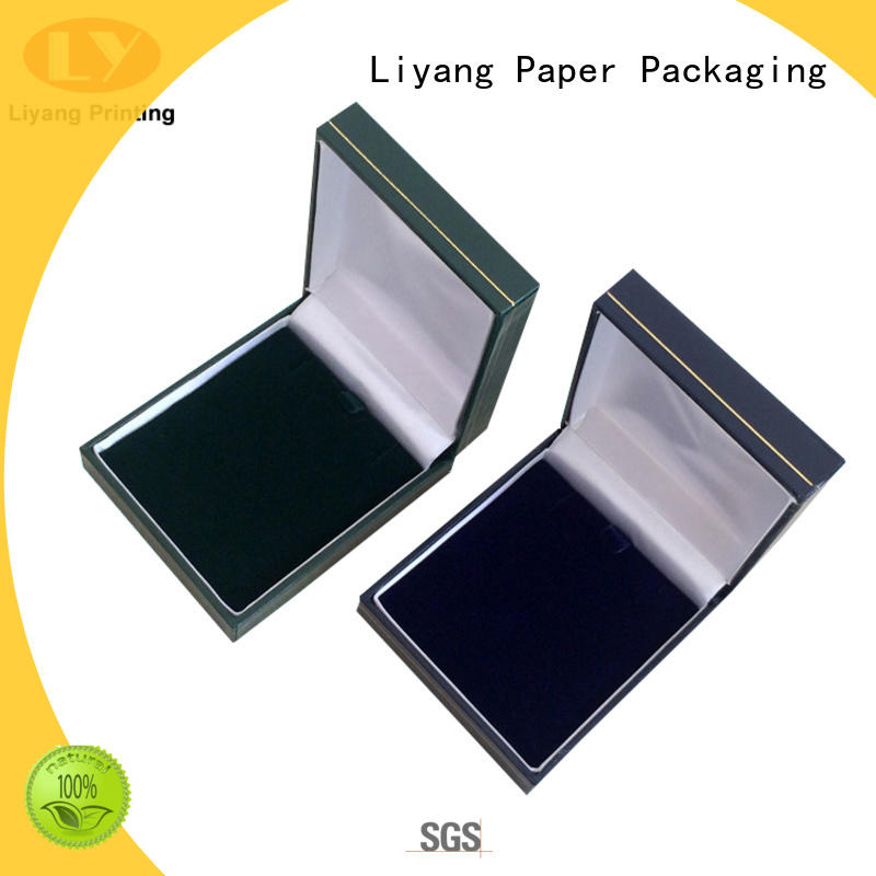 touch jewelry paper box bulk production for necklace Liyang Paper Packaging
